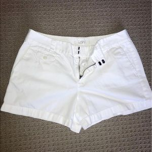 Ann Taylor Loft White Cotton Shorts 💟